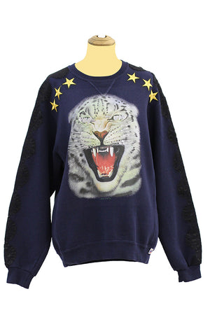 Navy blue tiger jumper