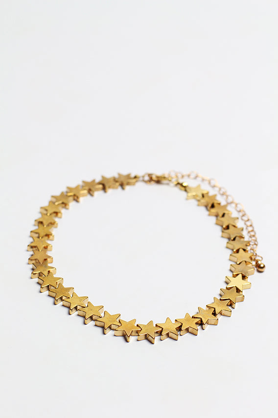 Gold plated star choker