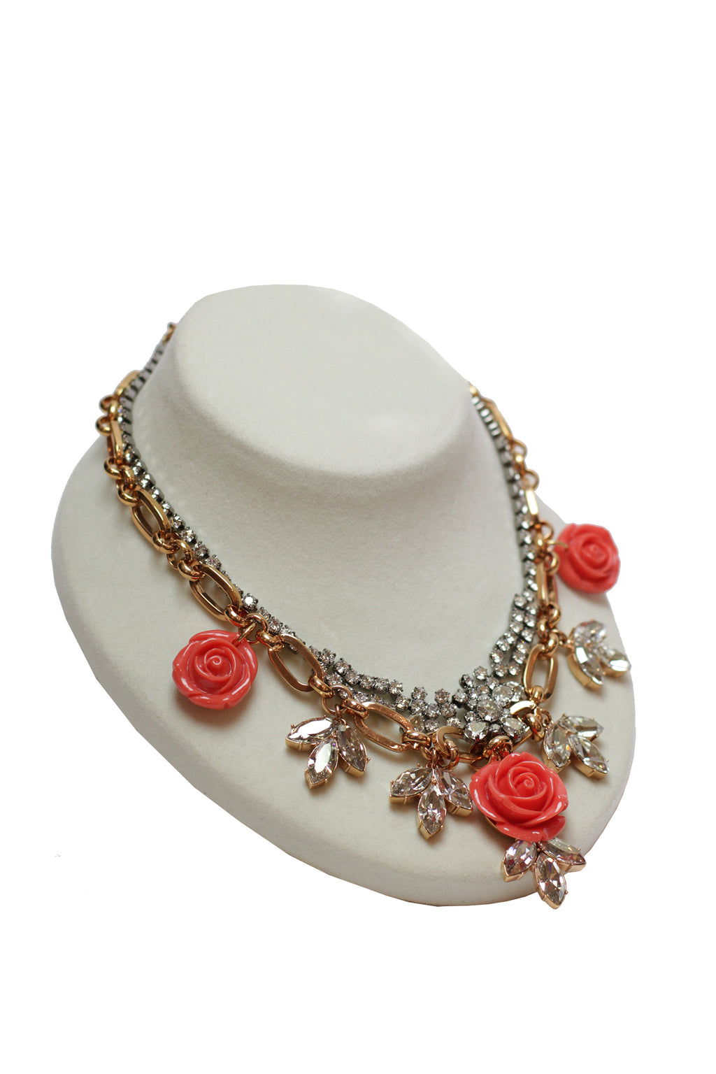 Mawi - Layered Rose Necklace with Crystals