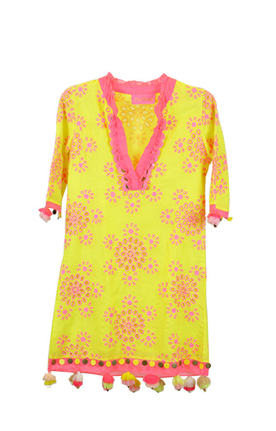 Pkt Designs - FRILL TUNIC WITH CUTWORK EMBROIDERY