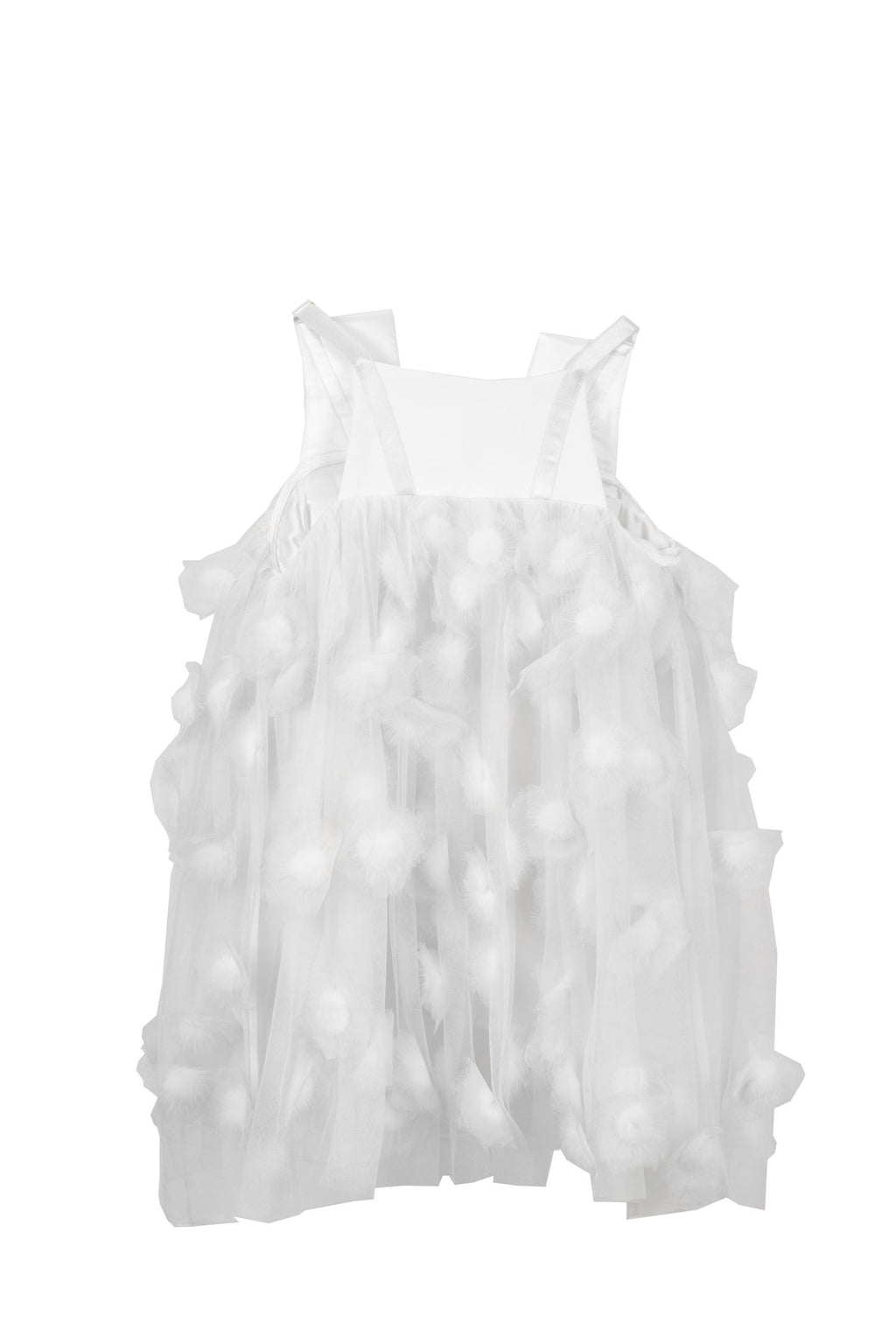 Maticevski - Paloma Mink Dot Dress White  Cream Kids
