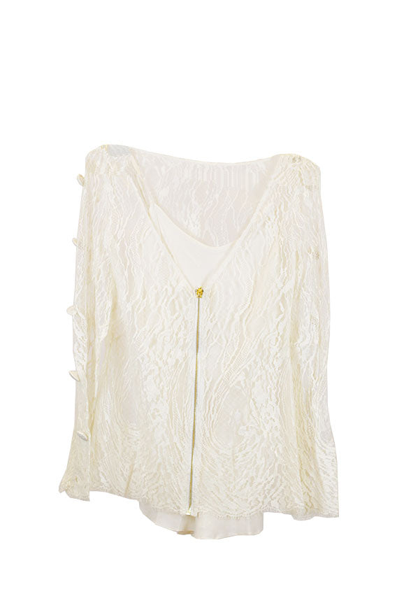 Sandra Mansour - LINING FOR THR FRONT AND BACK OFF WHITE Size Medium