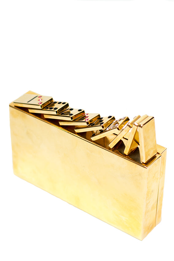 Benedetta Bruzziches - Domino rose gold clutch