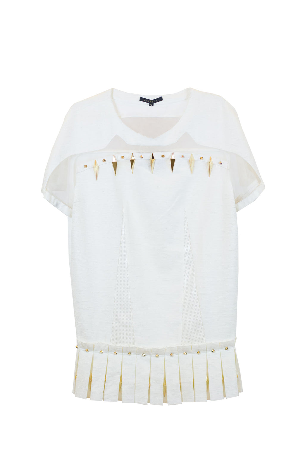 Yohan Kim - STUD MINI DRESS White