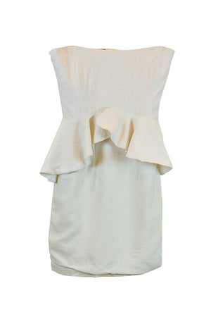 Allison Parris New York - Silk Strapless dress with side swags in Size 6