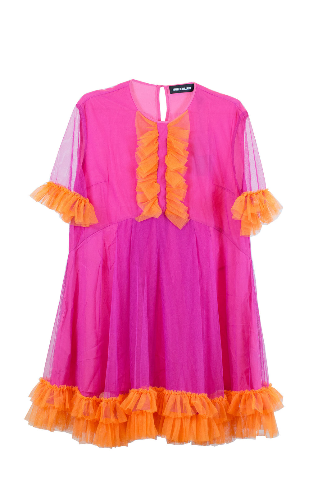 House of Holland - WOMENS TULLE OVER DRESS PINK
