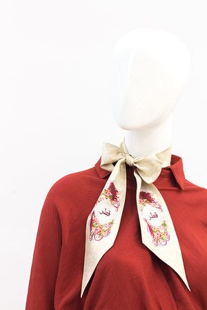 Peafowl Neckerchief Qatar Inspired Design 4