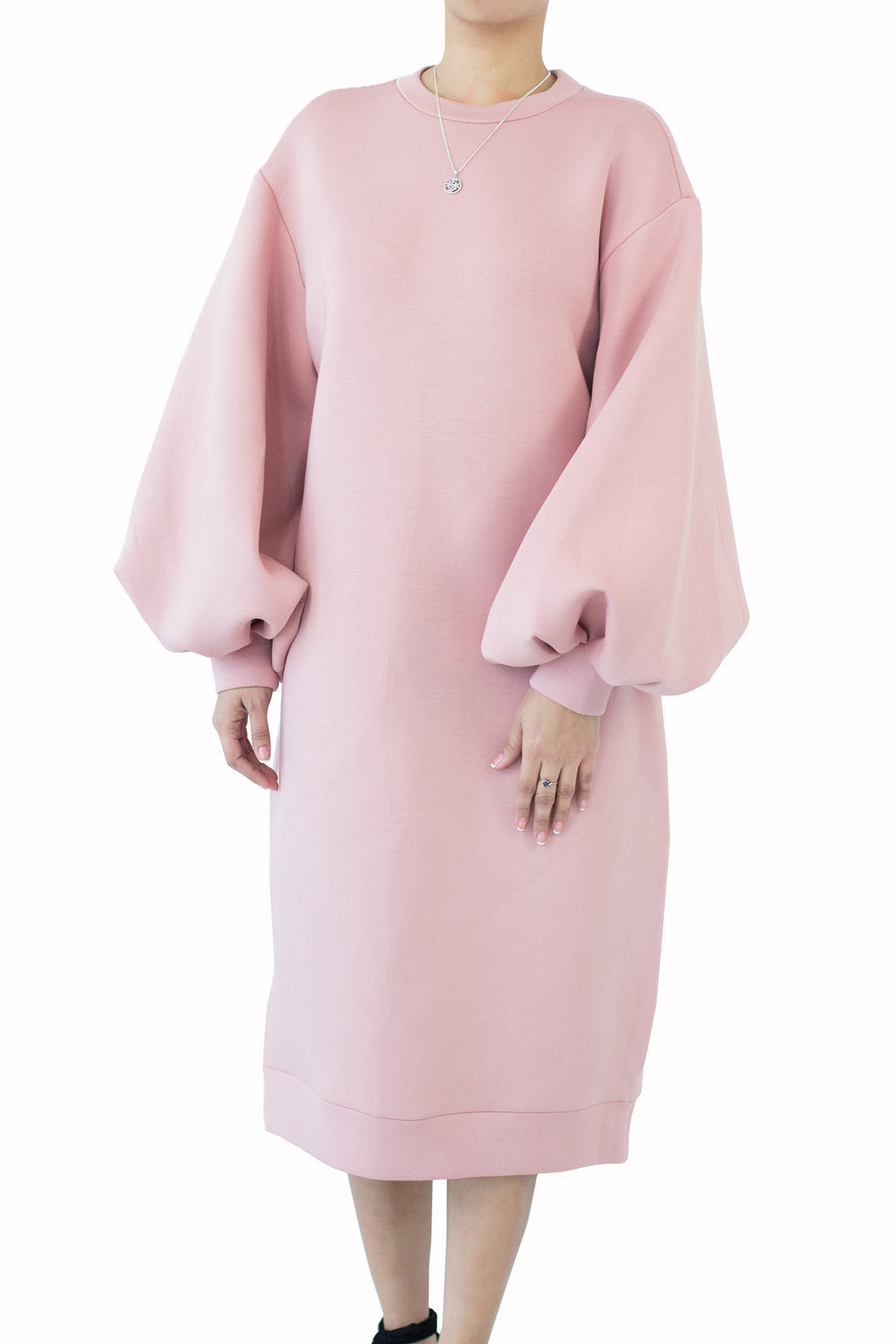 Kiswah - Puff Sleeve Long dress Free Size
