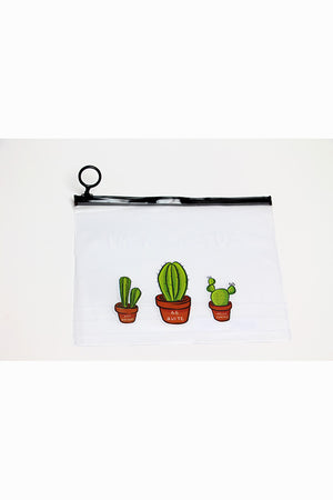 I am cactus transparent pouch