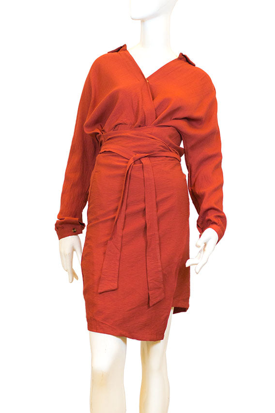 Kiswah - Red dress with a belt to tighten