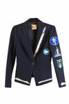 Black blazer with patches