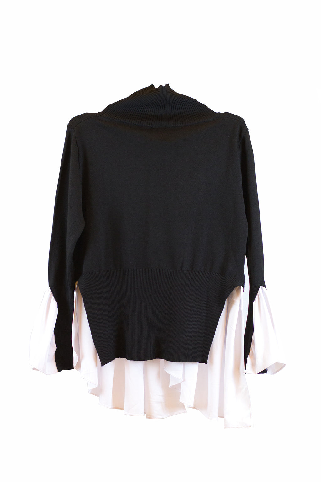 Black long sleeve with white design at the arm & bottom