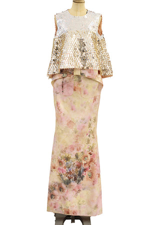 Isabel Sanchiz - Sibari model print roses dress