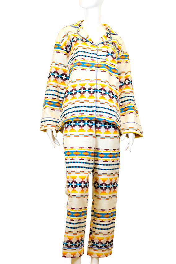 BedHead Pajamas - Classic flannel notch collar pj-golden santa fe
