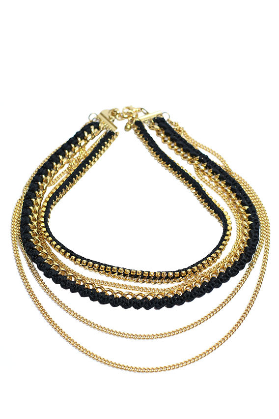 Venessa Arizaga - Lets dance necklace 24 gold plated brass
