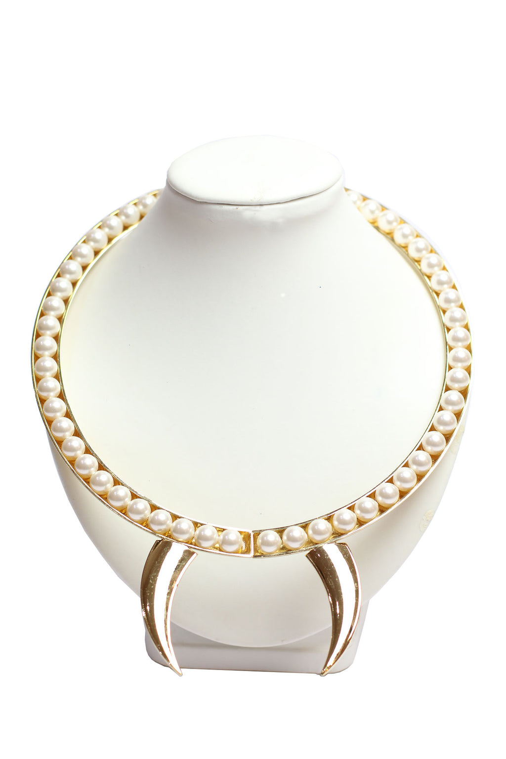 Maryam Keyhani - Curved pointed horn with pearls