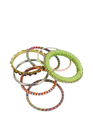 Shadow - Colorful Handmade trendy bracelet set fashion westem Green