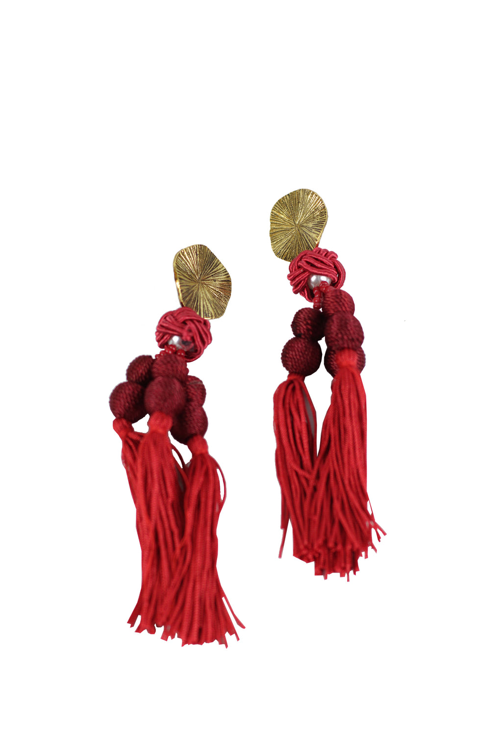 Shadow - Tassel fashion earrings (maroon)