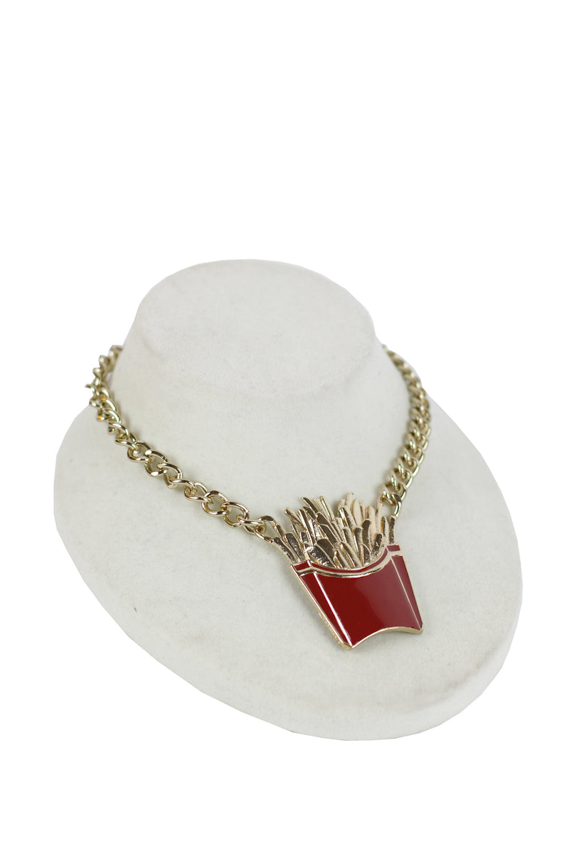 Shadow - French fries fashion necklace set