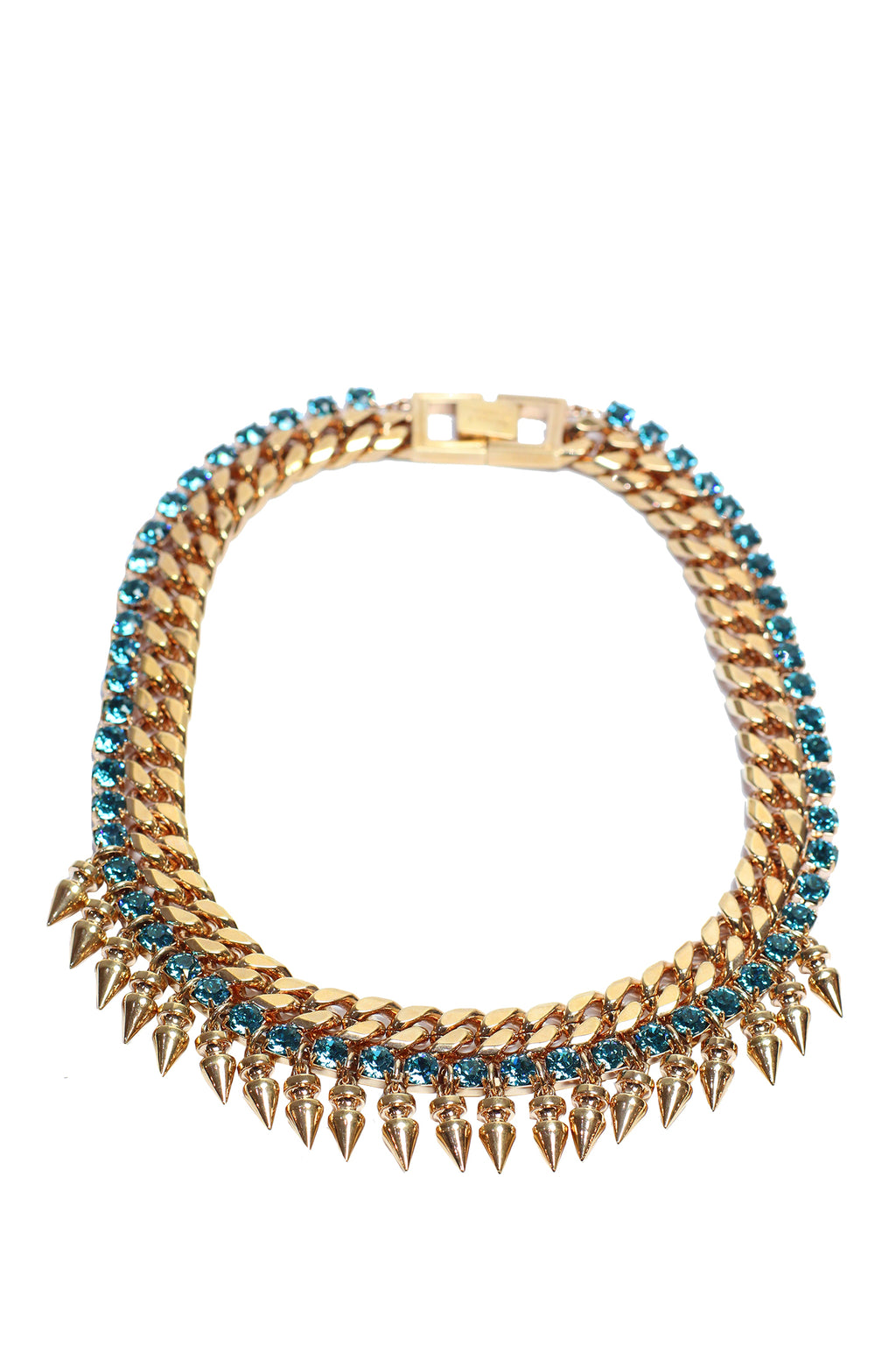 Mawi - Spiked necklace with crystals-rose-gold plated