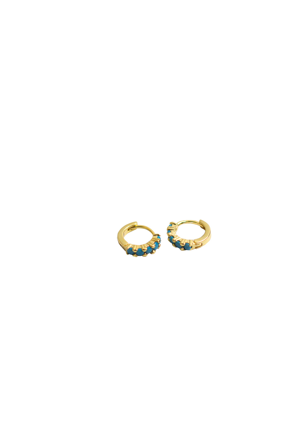 Shadow - Gold plated w/ blue stone Earrings