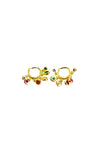 Shadow - Small multi color earrings gold