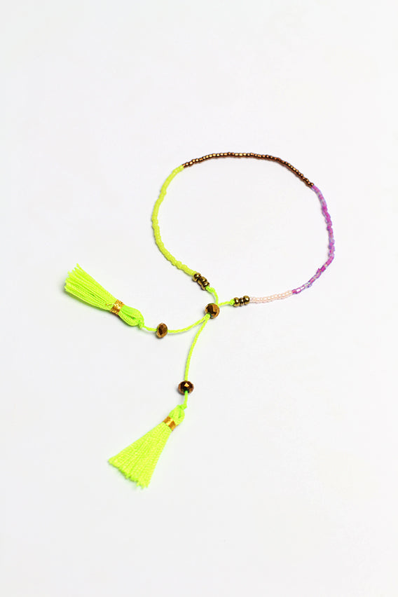 Multi colored tassel bracelet