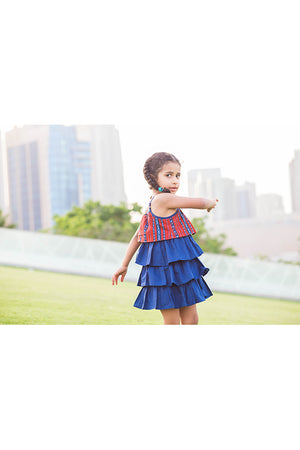 Kids Baby Elephant - Ruffle dress with matching bloomers