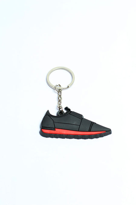 Key chain - black / red shoes