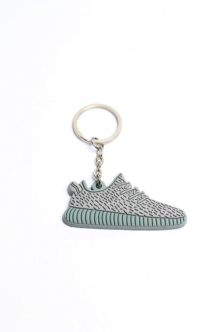 Key chain - gray / light blue shoes