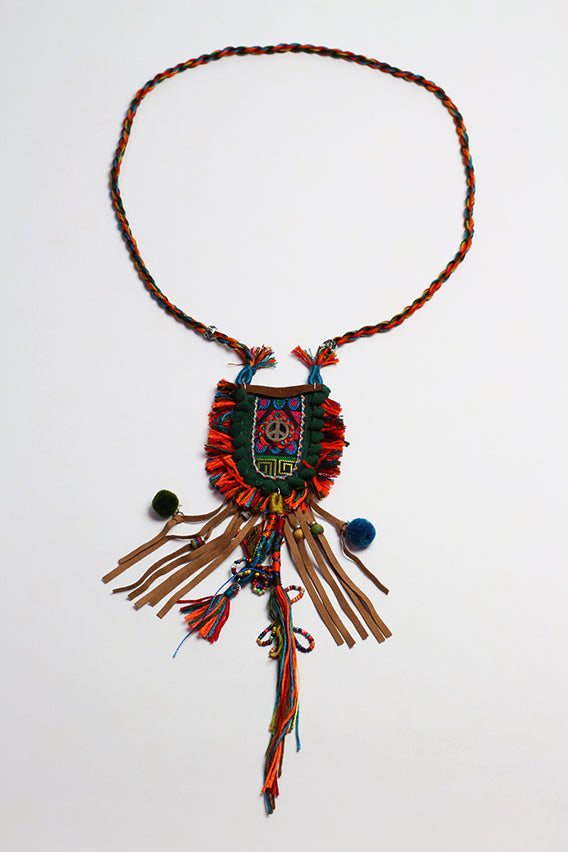 Bohemian necklace (peace pendant)