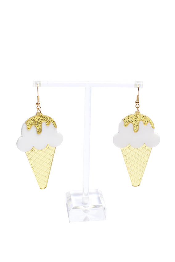 Shadow -  Cone ice cream earring