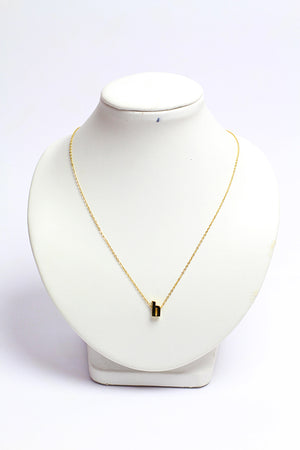 Gold plated small letter necklace