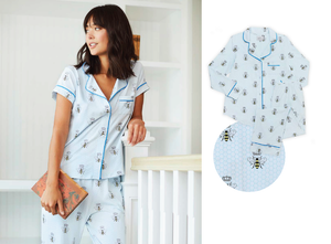 Queen bee blue pajama