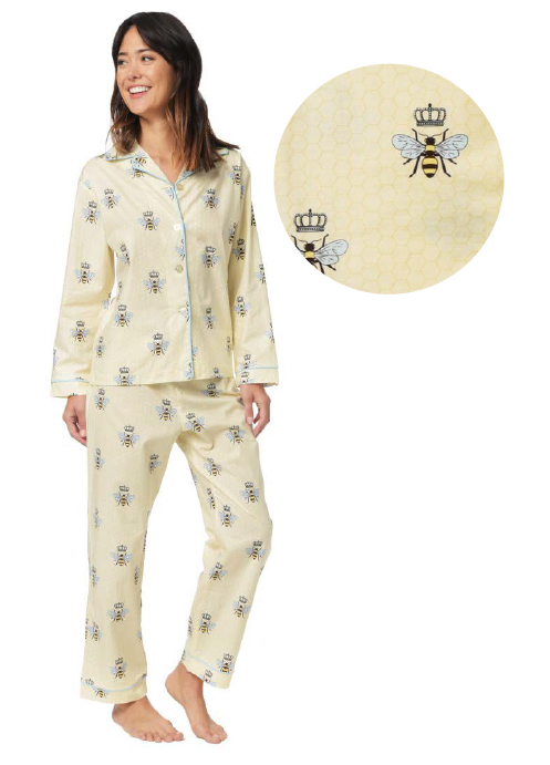 Queen bee ivory pajama