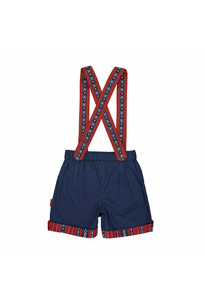 Kids Baby Elephant - Blue shorts with straps