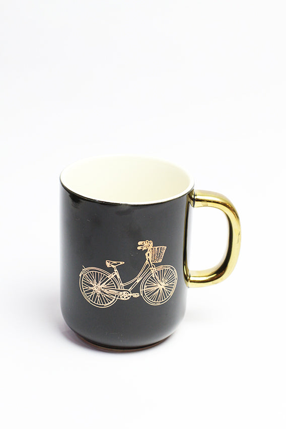 Bicycle Black Mug