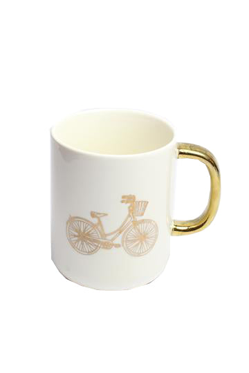 Bicycle White Mug