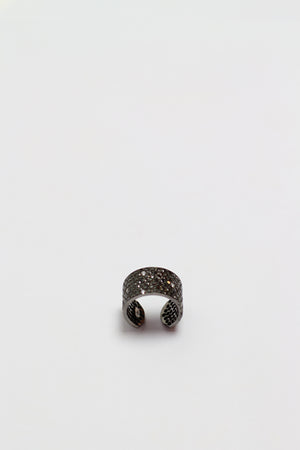 Twilight black diamond ring