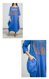 Blue Kaftan with Friendship Bracelets