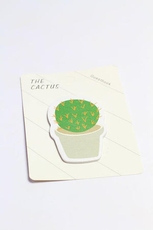 Cactus guestbook stick notes