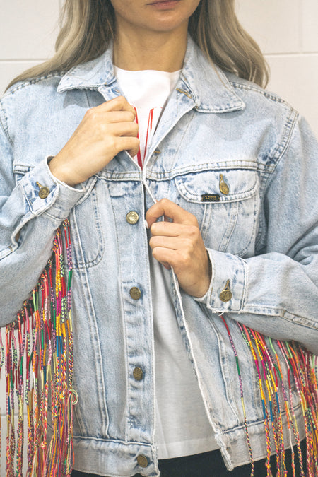 Friendship bracelet jacket