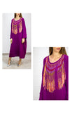 Purple Kaftan with Friendship Bracelets