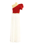 Fashion Identity - Red white dress with belt