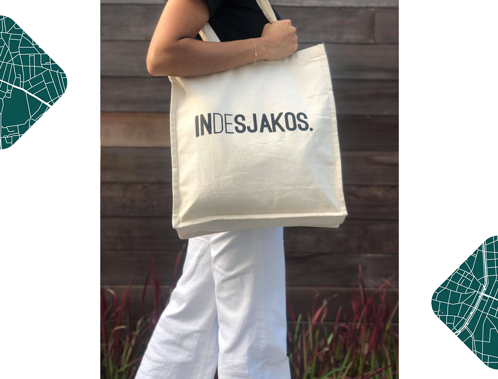 Totebag INDESJAKOS KLEIR. linnen zak