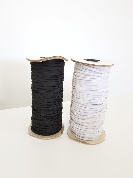 3mm White Elastic