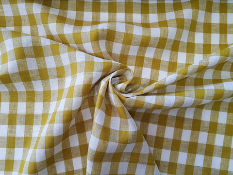 Chartreuse Gingham Linen