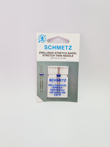 Twin stretch needle 2.5mm