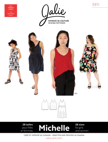 Jalie 3911 - MICHELLE Tanks and Dress - Seamstress Fabrics