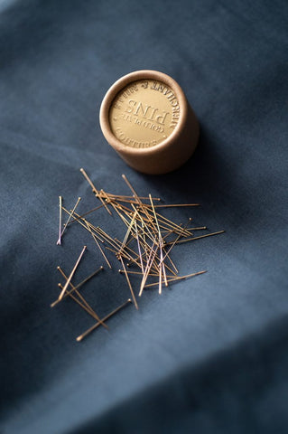 Merchant & Mills - Couture Gold Pins - Seamstress Fabrics